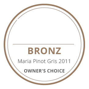 medalie bronz maria pinot gris 2011 owners's choice